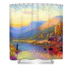 Fishing And Dreaming Shower Curtain by Jane Small
