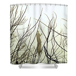 Shower Curtain featuring the photograph The Fisherman by Robyn King