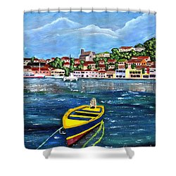 The Fishing Boat  Shower Curtain