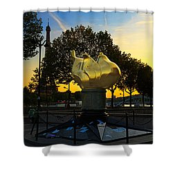 The Flame Of Liberty In Paris Shower Curtain by Louise Heusinkveld