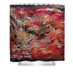 The Flameous Painting Shower Curtain