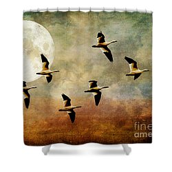 The Flight Of The Snow Geese Shower Curtain