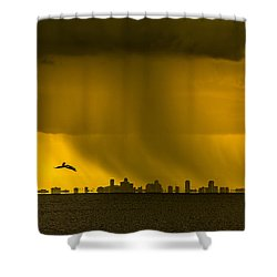 The Floating City  Shower Curtain