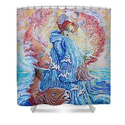 The Flow Of Creativity Shower Curtain