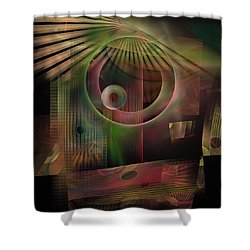 The Flower And Willow World Shower Curtain