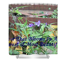 The Flower That Blooms In Adversity  Shower Curtain