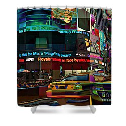 The Fluidity Of Light - Times Square Shower Curtain