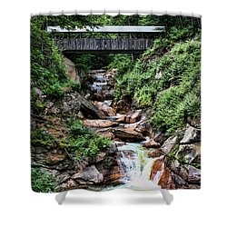 The Flume Shower Curtain by Heather Applegate