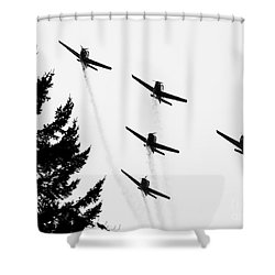 The Fly Past Shower Curtain