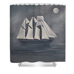 The Fog Shower Curtain by Virginia Coyle