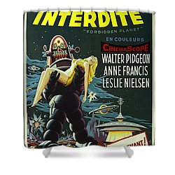 The Forbidden Planet Vintage Movie Poster Shower Curtain by Bob Christopher