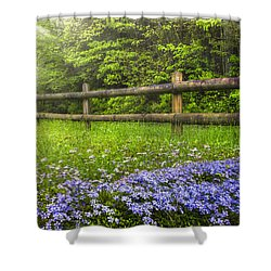 The Forest Is Calling Shower Curtain by Debra and Dave Vanderlaan