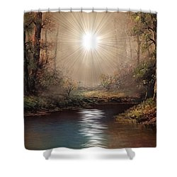 Sunrise Forest  Shower Curtain