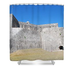 Shower Curtain featuring the photograph The Fort Never Fell by George Katechis