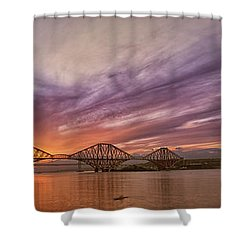 The Forth Rail Bridge Shower Curtain