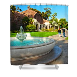 Botanical Building And Fountain At Balboa Park Shower Curtain