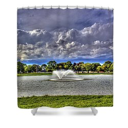 The Fountain Shower Curtain by Tim Buisman