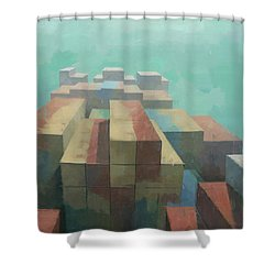 The Four Corners Shower Curtain