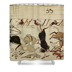 The Bayeux Tapestry Shower Curtain by French School