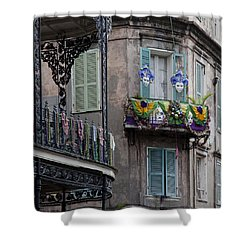 The French Quarter During Mardi Gras Shower Curtain by Mountain Dreams