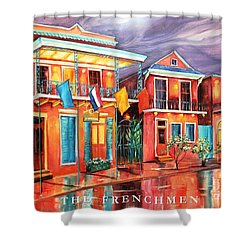 The Frenchmen Hotel New Orleans Shower Curtain by Diane Millsap
