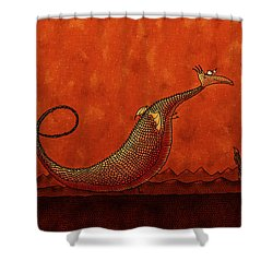 The Friendly Dragon Shower Curtain by Gianfranco Weiss