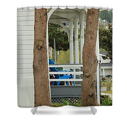 The Front Porch Shower Curtain by E Faithe Lester