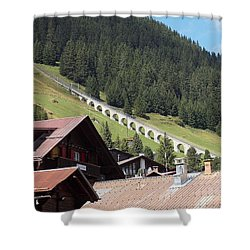 The Funicular In Murren Shower Curtain