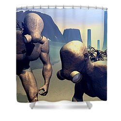 The Future Ancients Shower Curtain