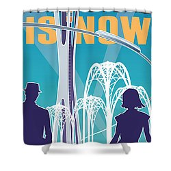 The Future Is Now - Daytime Shower Curtain