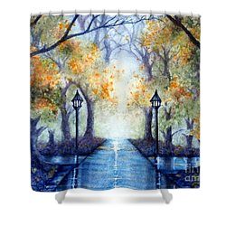 The Future Looks Bright Shower Curtain by Janine Riley