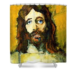 Shower Curtain featuring the painting The Galilean by Seth Weaver