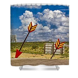 The Gallop Arrows Shower Curtain