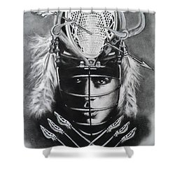The Game Of Lacrosse  Shower Curtain by Carla Carson