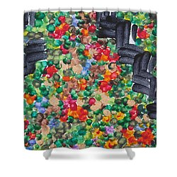 Shower Curtain featuring the painting The Garden Path by Michele Myers