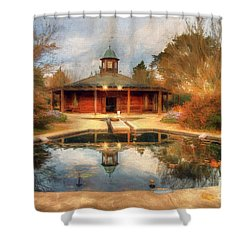 The Garden Pavilion Shower Curtain