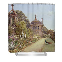 The Gardens At Montacute In Somerset Shower Curtain by Ernest Arthur Rowe