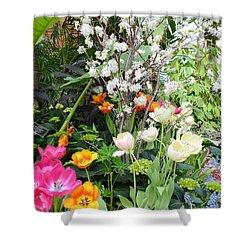 The Gardens Shower Curtain by Kathleen Struckle