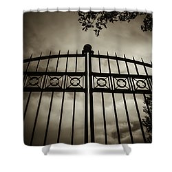 The Gate In Sepia Shower Curtain