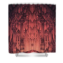 The Gates Of Barad Dur Shower Curtain