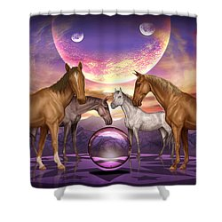 The Gathering Shower Curtain by Ciro Marchetti
