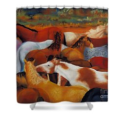 The Gathering Shower Curtain by Frances Marino