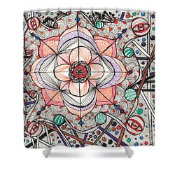 The Gathering Of Colors Shower Curtain by Anita Lewis