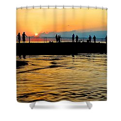 The Gathering Spot Shower Curtain by Frozen in Time Fine Art Photography