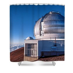 Shower Curtain featuring the photograph The Gemini Observatory by Jim Thompson