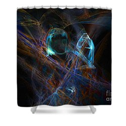 The Ghost Of Ancient Times Shower Curtain by Lance Sheridan-Peel