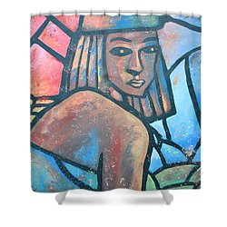The Ghost Of Happiness Shower Curtain by AC Williams