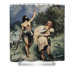 The Giants Bore Freia Away, From The Shower Curtain by Ferdinand Leeke