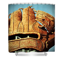 The Giants Glove Shower Curtain by Holly Blunkall