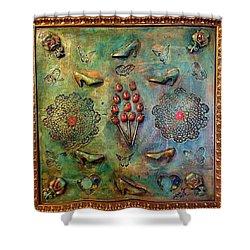 The Gift By Alfredo Garcia Art Shower Curtain by Alfredo Garcia